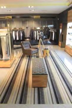 Modern menswear retail space