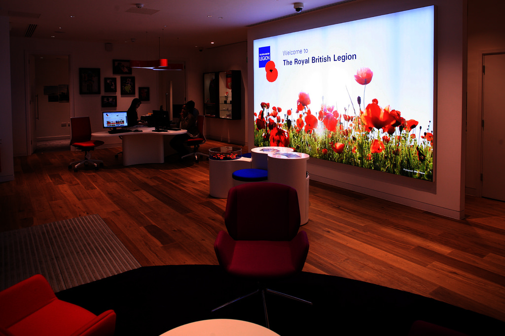Fit out of British Legion pop-in centres