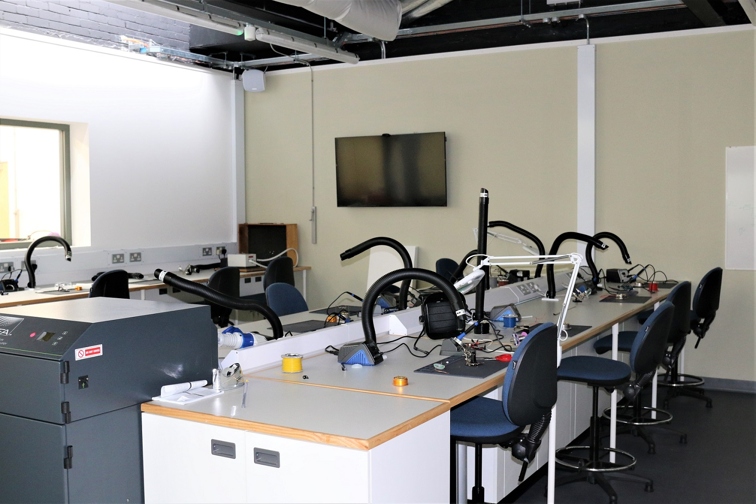 Conversion of rooms into new electronics lab