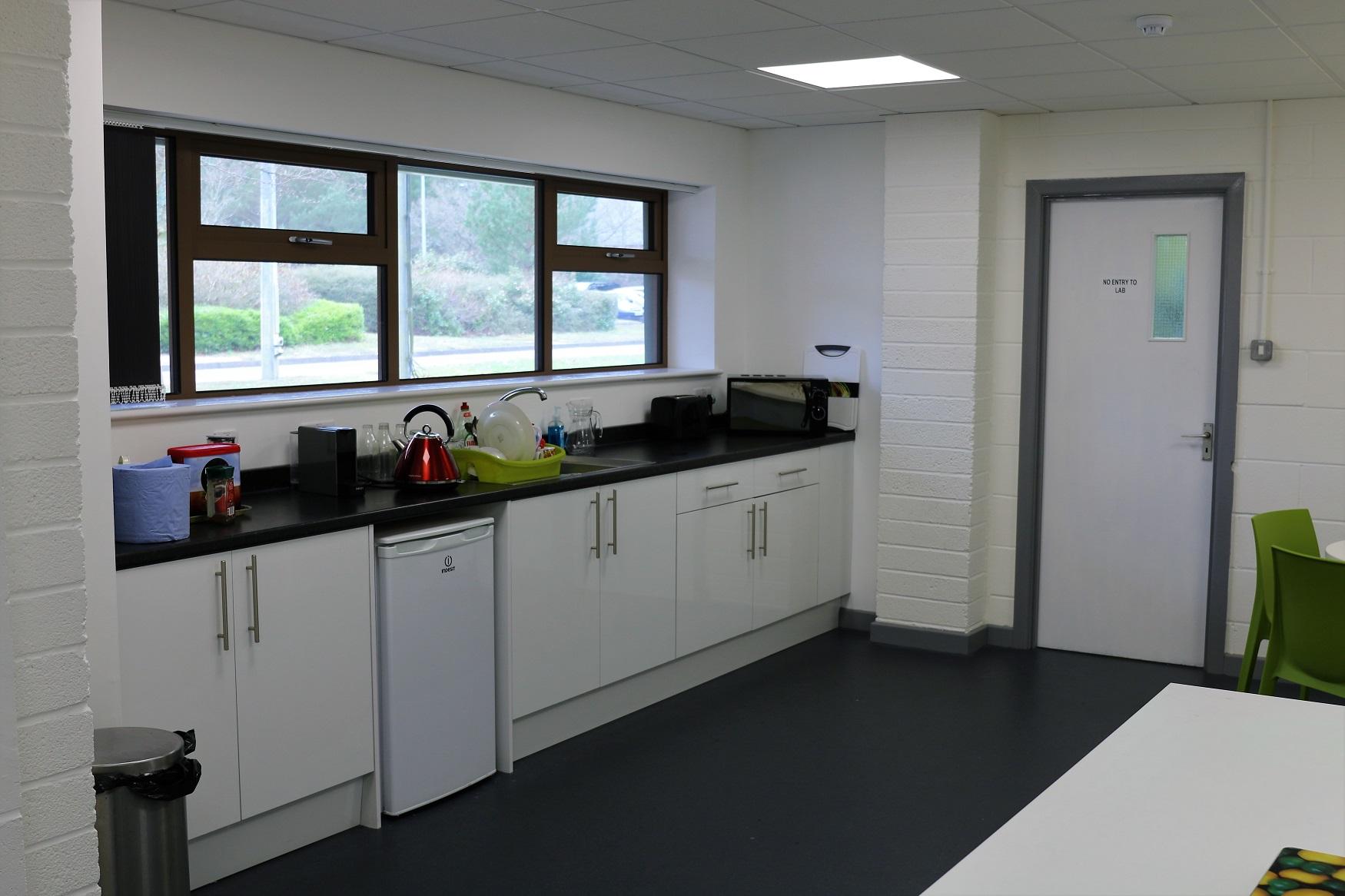 Refurbished kitchen break out area