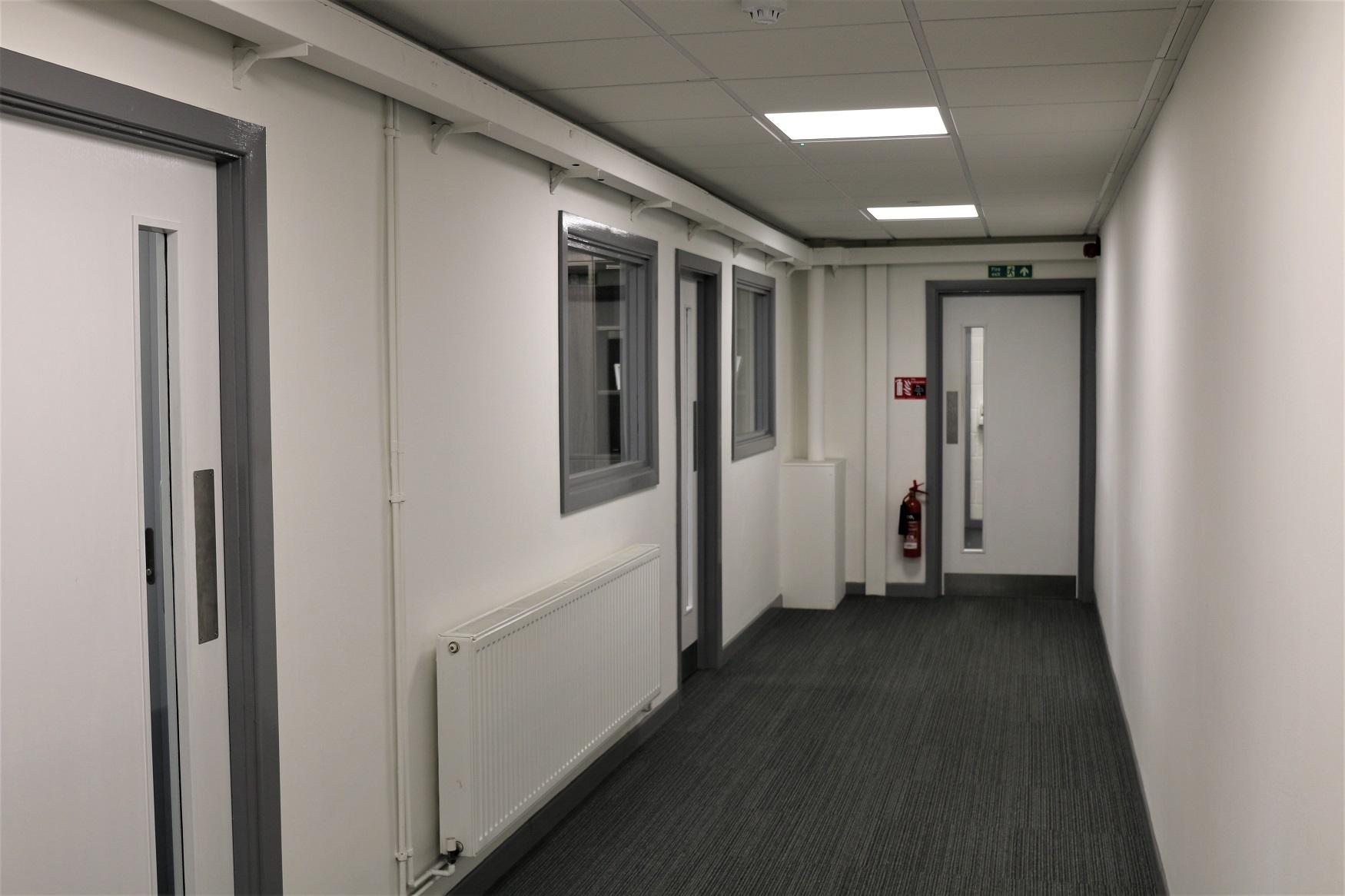Refreshed hallways, toilets and locker area