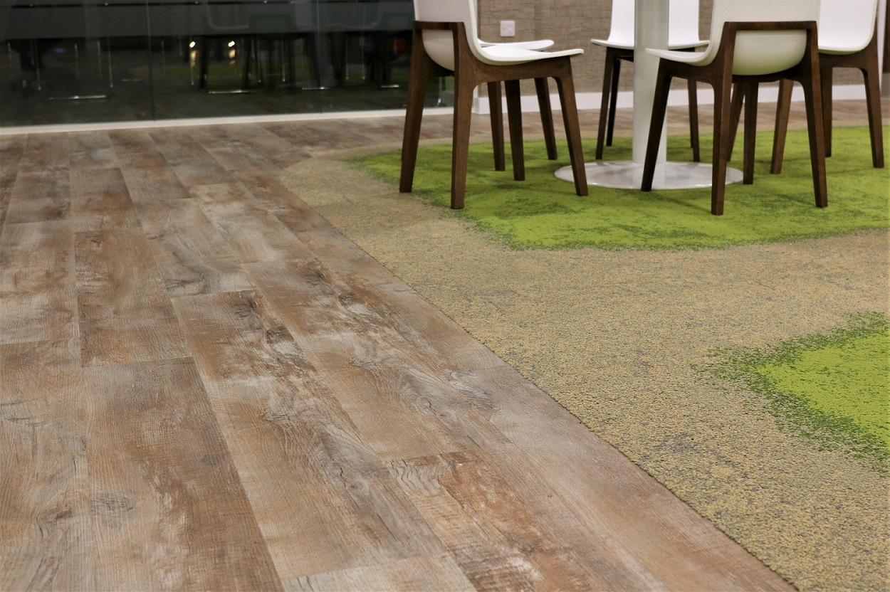 Using flooring to created zoned areas