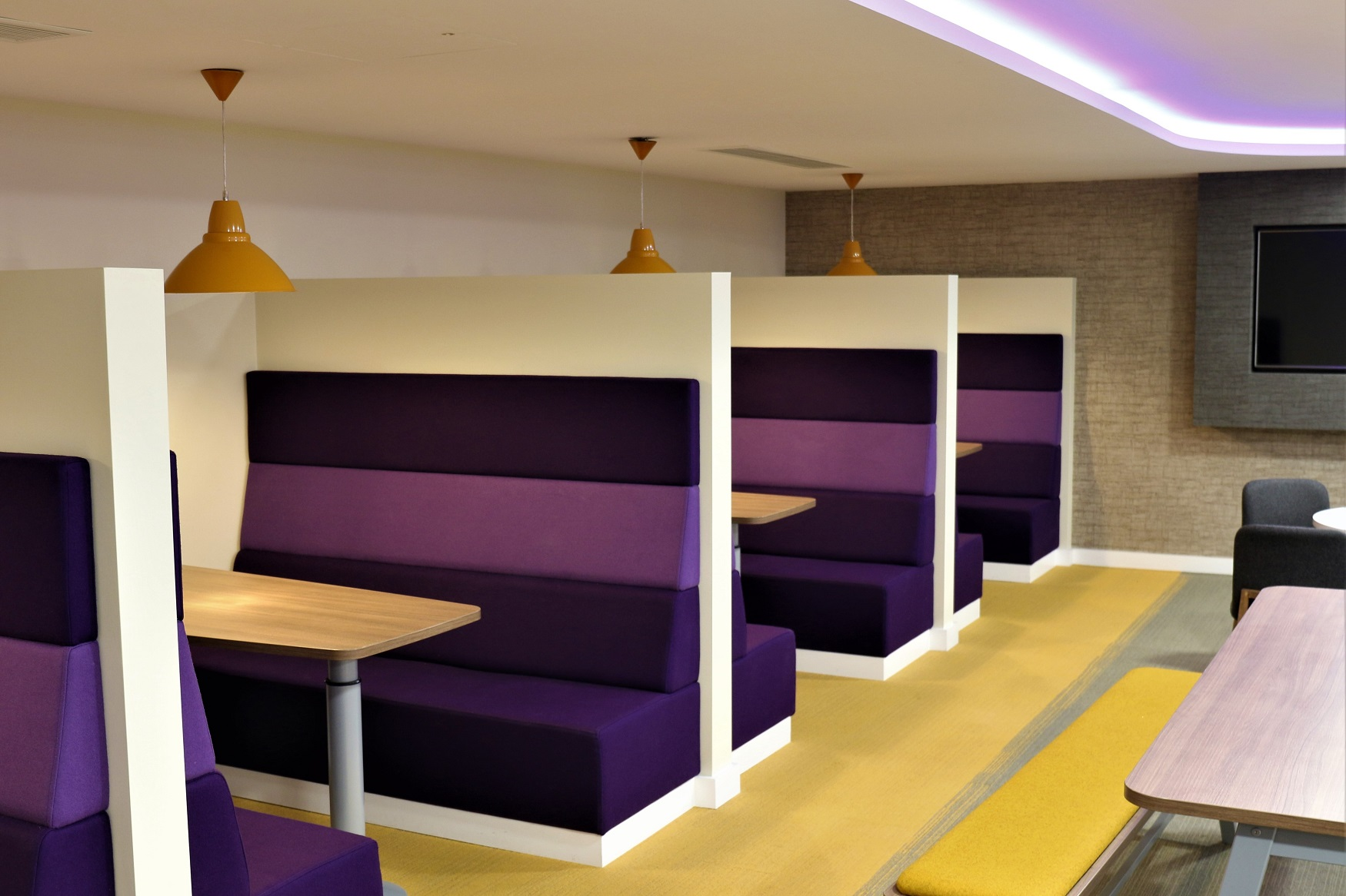 Bespoke booths for working or relaxing