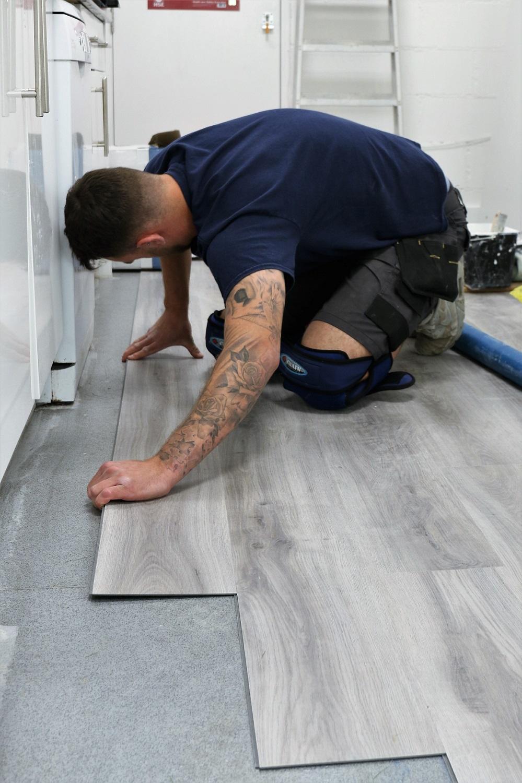 New flooring in Warehouse kitchen