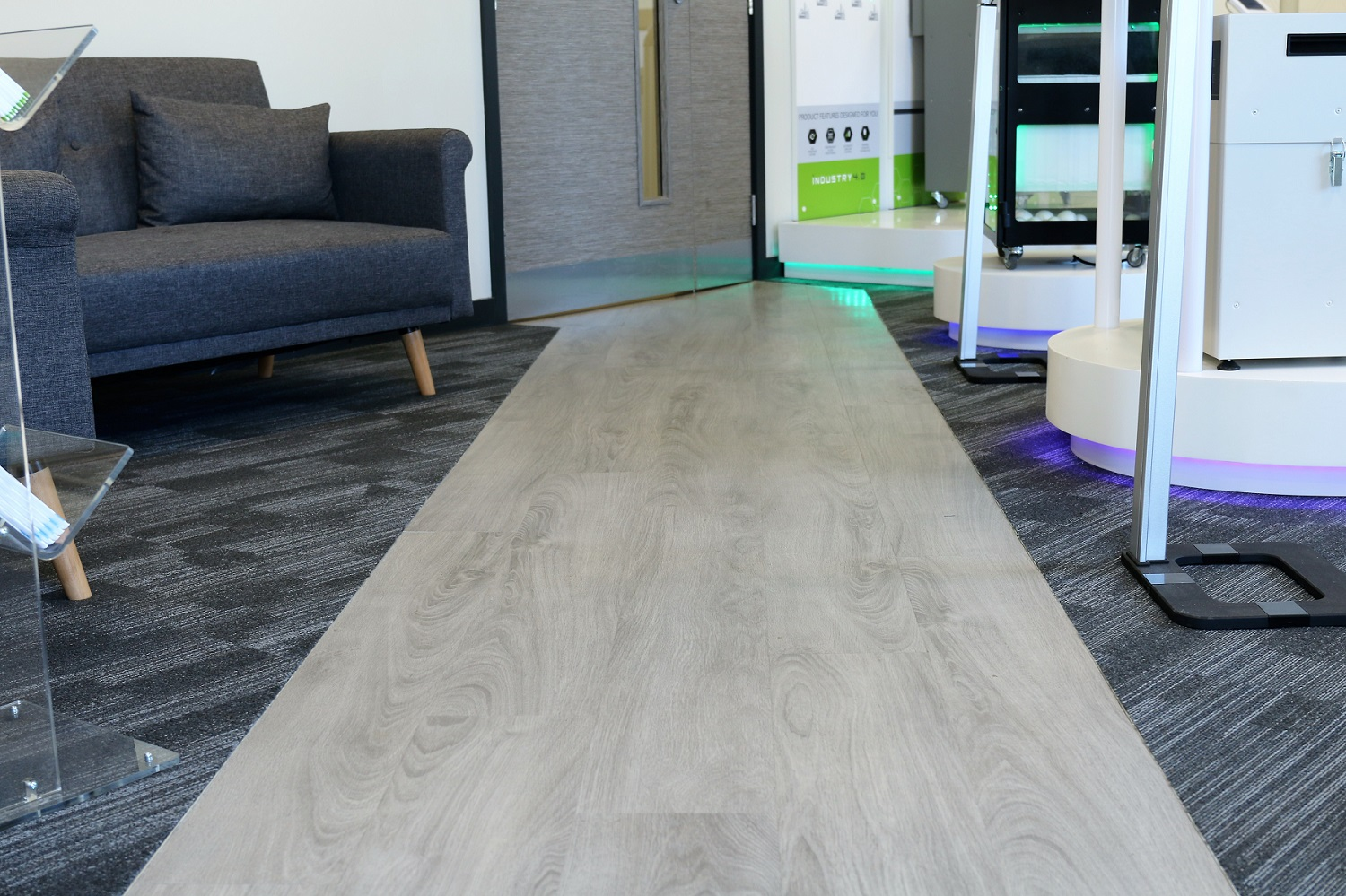 Clean, modern flooring in reception