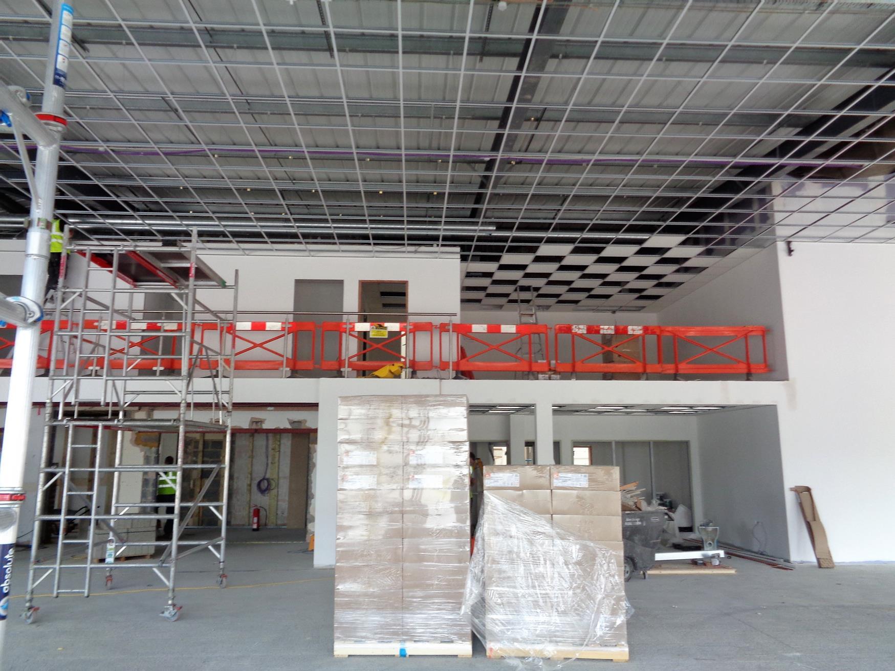 Mezzanine maximises use of space