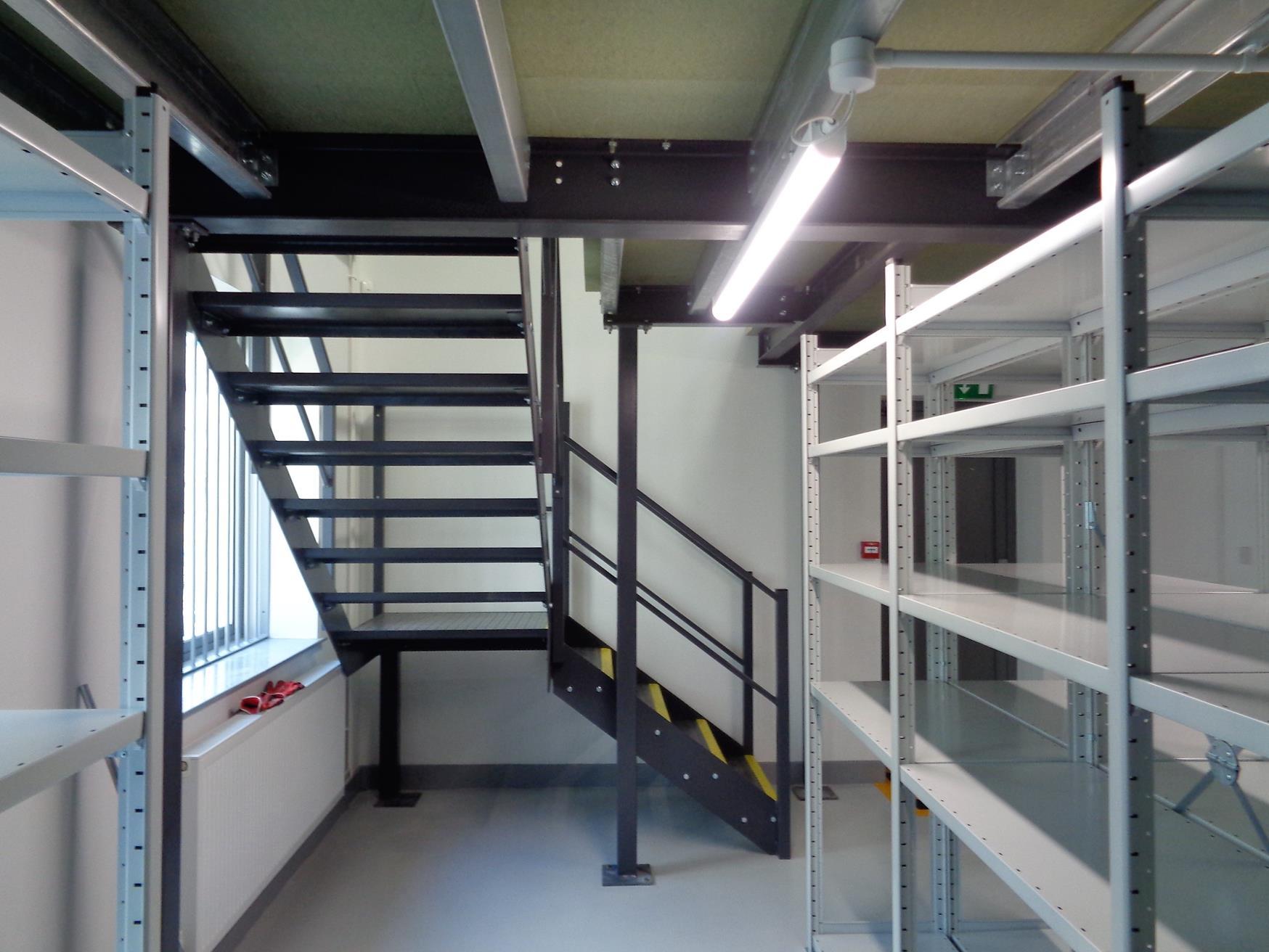 New two storey parts storage area