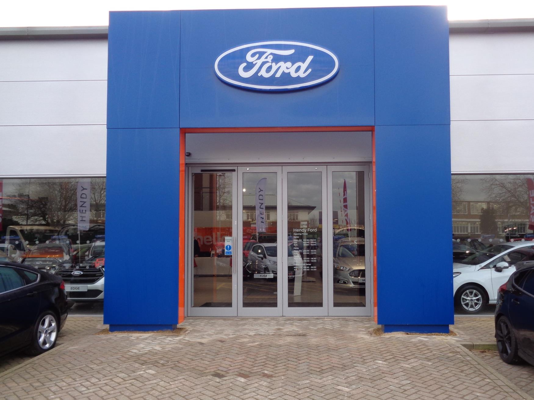 new bold branded electric entrance doors