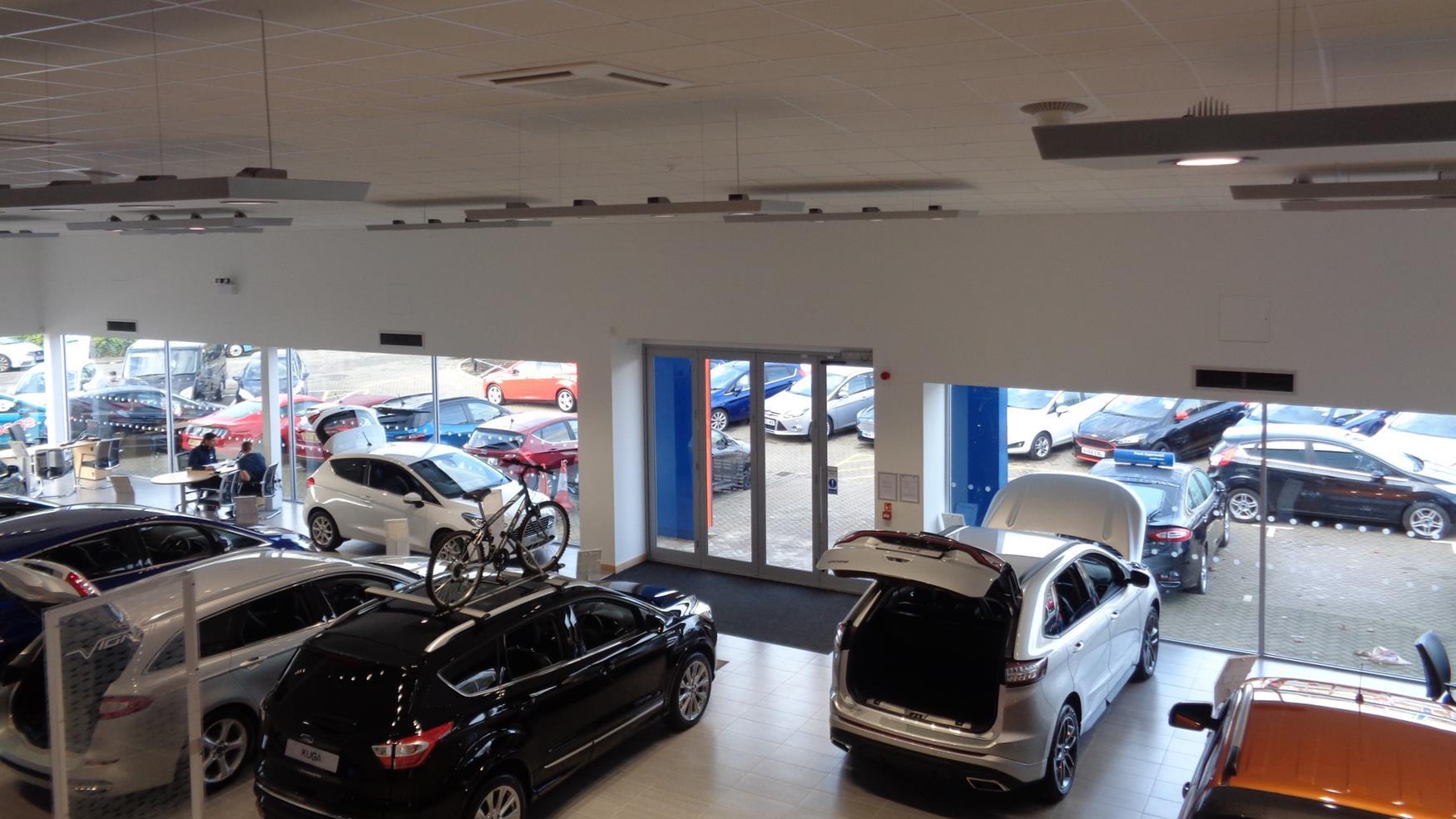 Large showroom area to display vehicles