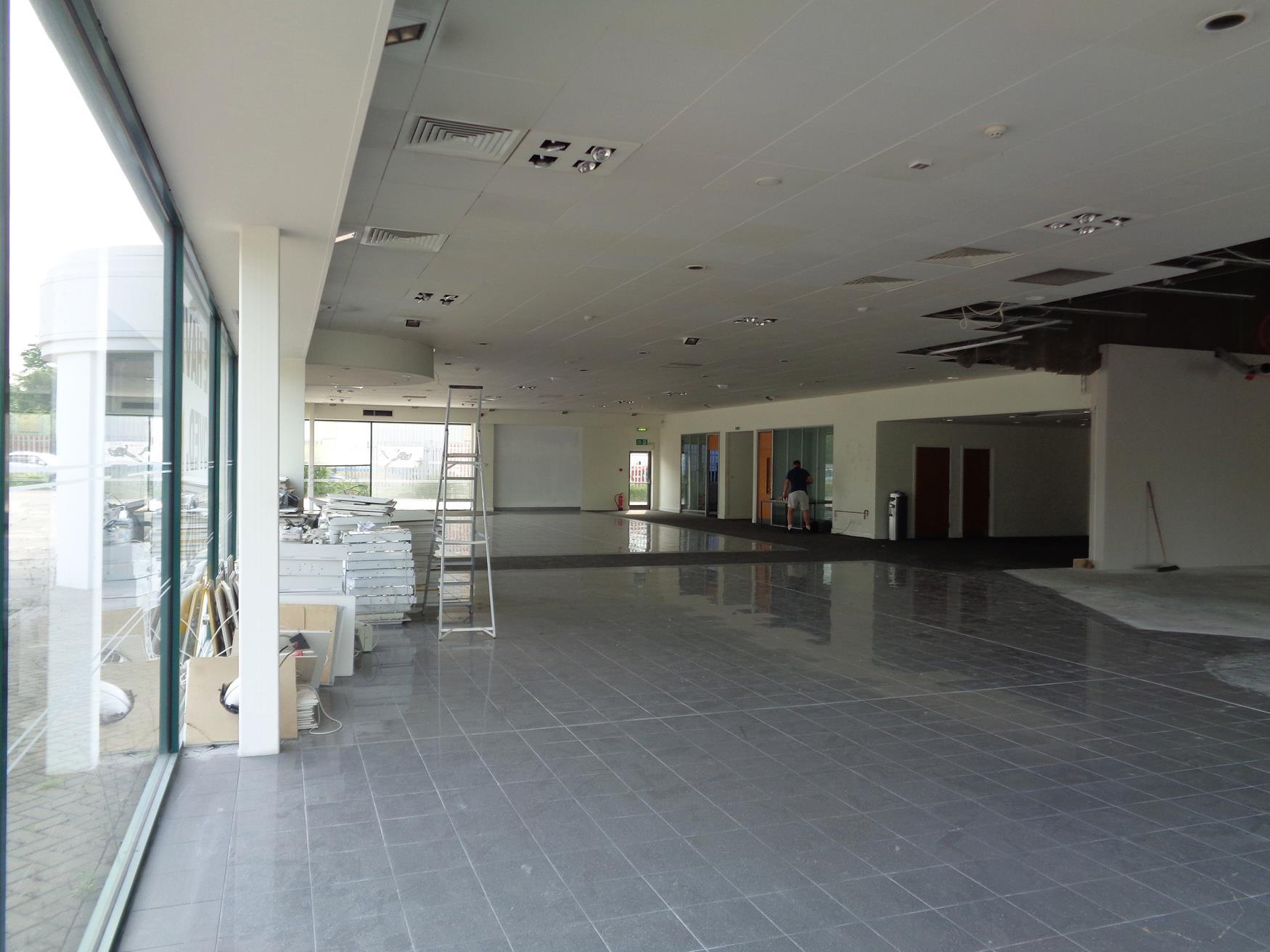 Showroom was previously jaguar dealership