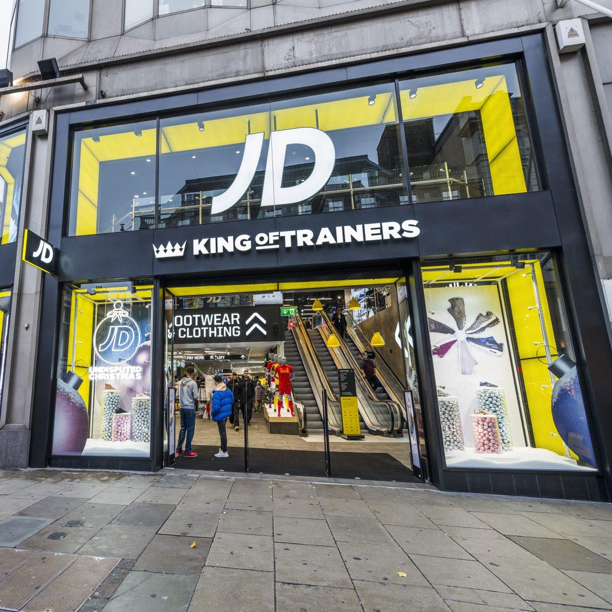 JD sports retail shopfront London