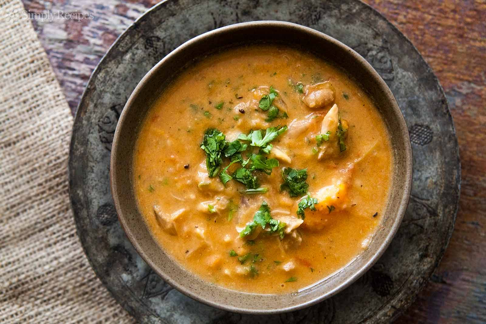 African chicken peanut stew.