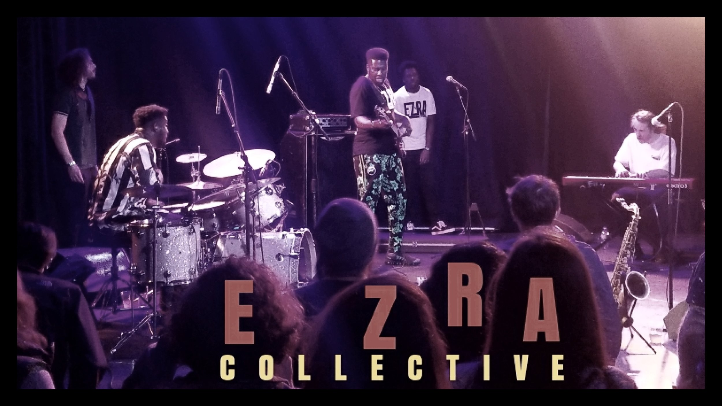 EZRA Collective [from Left]: James Mollison, Femi & TJ Koleoso, Ife Ogunjobi and Joe Armon-Jones…