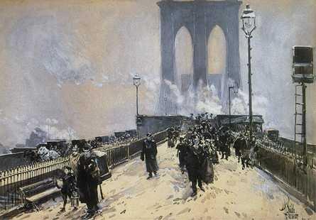 """Winter Day on Brooklyn Bridge"""
