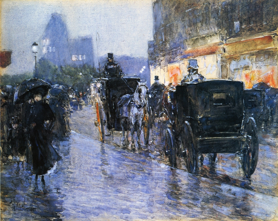 """""""Horse Drawn Cabs at Evening"""""""