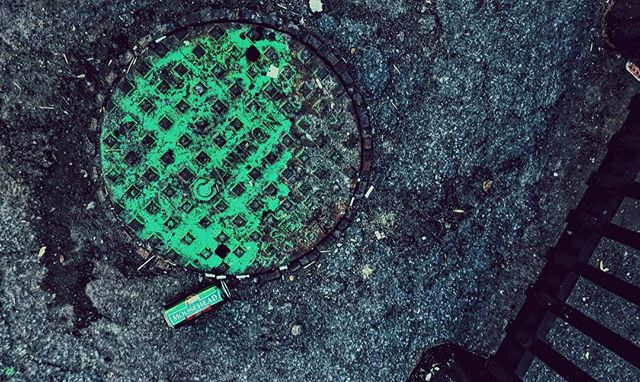 """The Rift Tree rises""  #urbanphotography #city #manhole #spraypaint #green #battery #exploration #backalley #pasta #sleep #thesciences #gizabutler #stoner #stonerdoom #metal #music #lyrics #vsco #toronto #ewigeblumenkraft #fnord #duhexenhase"