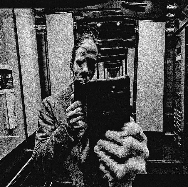 """""""What's something for which you are personally suited?"""" #glitch #bw #malfunction #panorama #psychedelic #incameraeffects #multipleexposures #infintemirror #elevator #ewigeblumenkraft #fnord #duhexenbase #work #selfie #mirrorselfie #distortion #loureed #smalltown #animalserenade #recordstoreday #recordstoreday2018 #photography #vsco #toronto #torontophotography"""