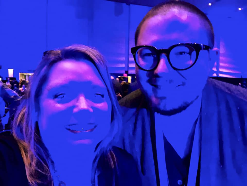 Brett and one of his friends at the M19 Conference.