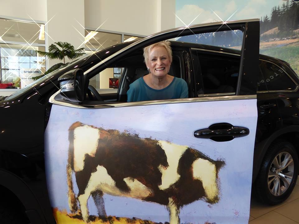 Open Doors for Art Carolyn Harcourt in car.jpg
