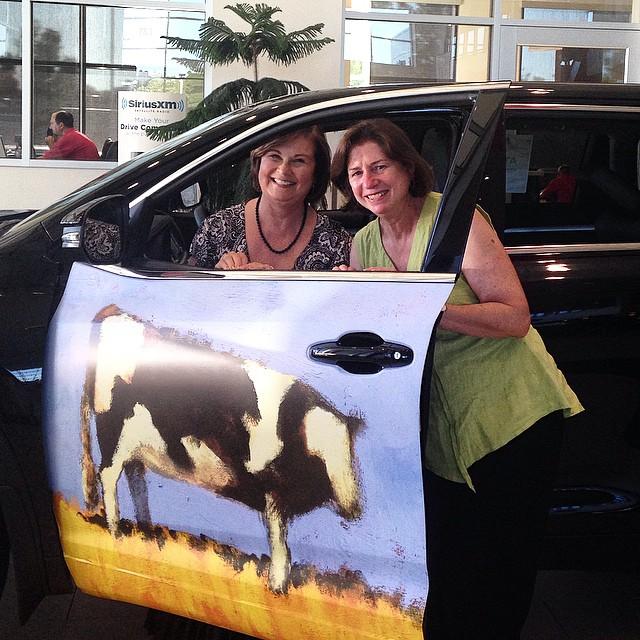 Open doors for Art Anna Peterson Chris D'Arcy in car.jpg