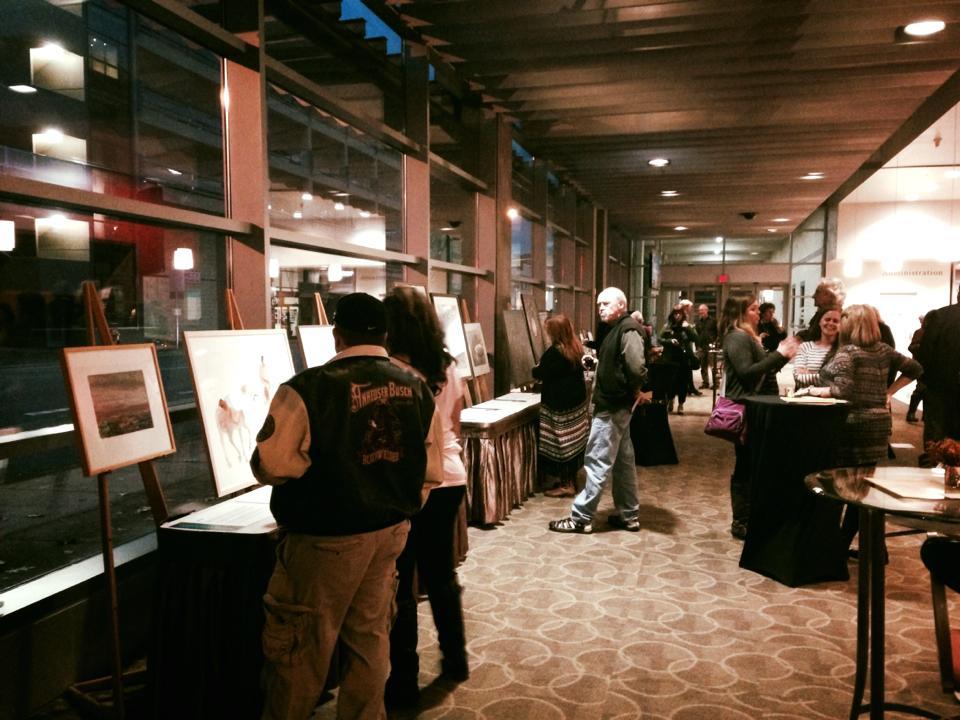 SCC 10th anniv event silent art auction setup.jpg