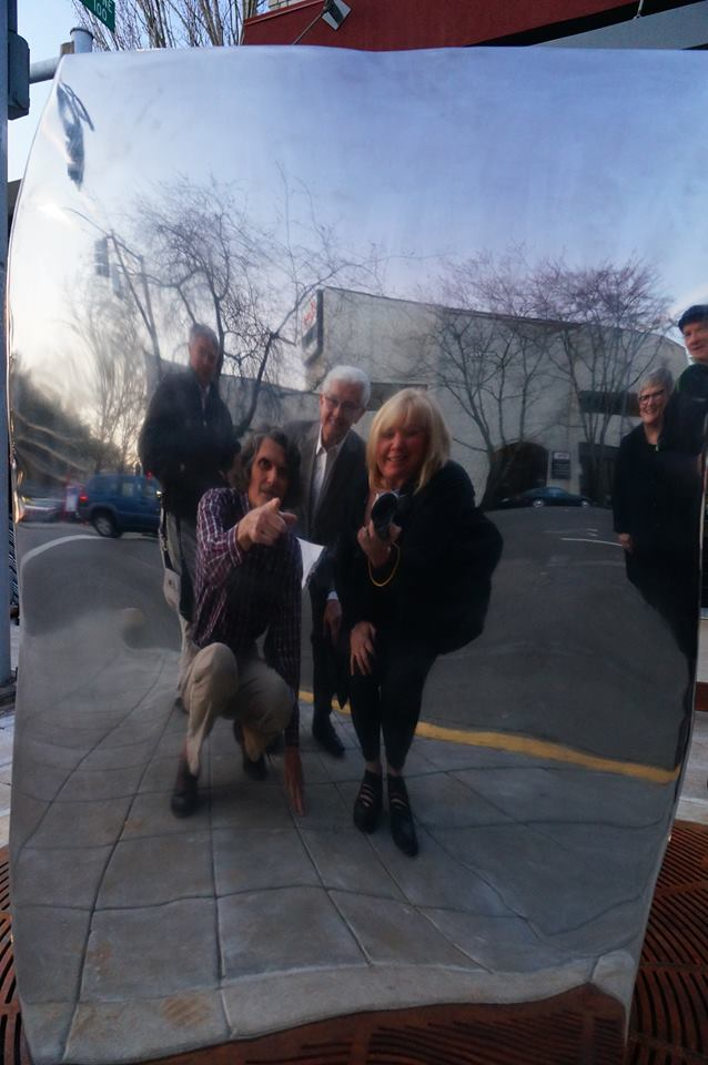 Bruce West Cube OASf brd members reflected at installation.jpg