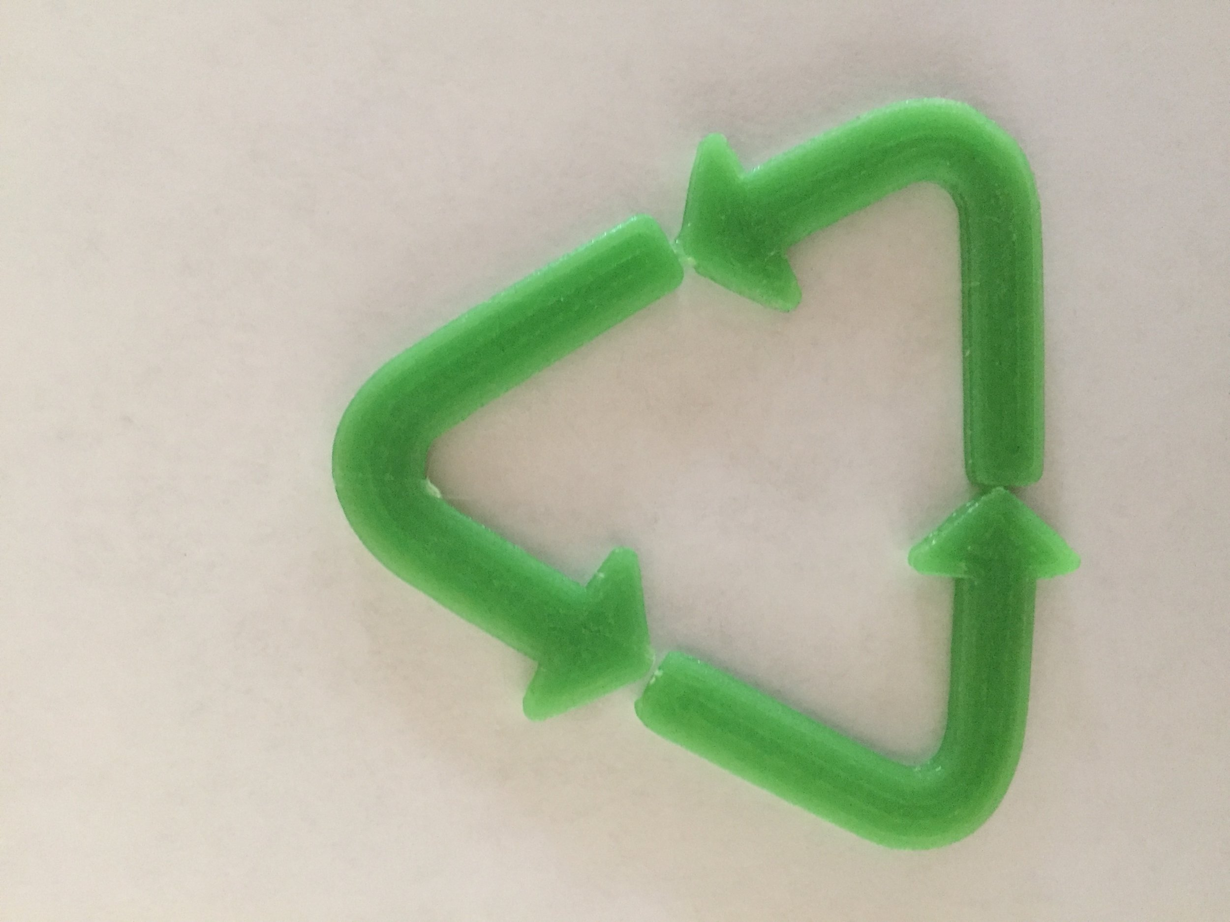 3D printed plastic in house using recycled plastic feedstock.