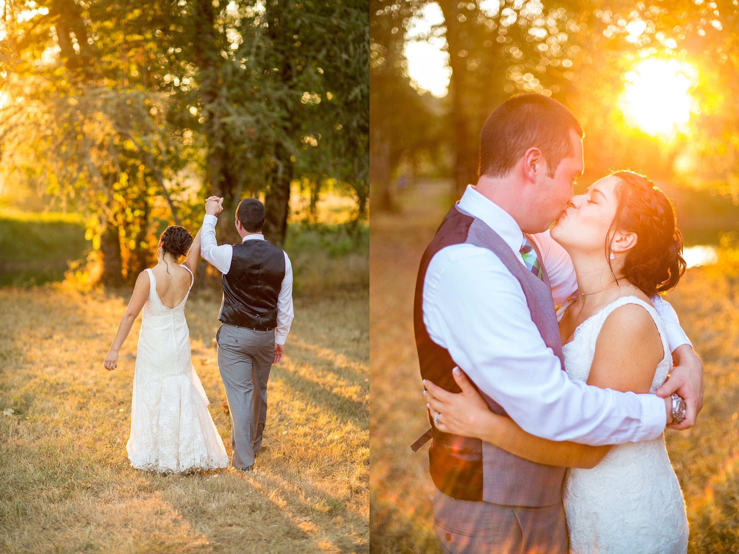 Golden Hour Wedding Photos Oregon