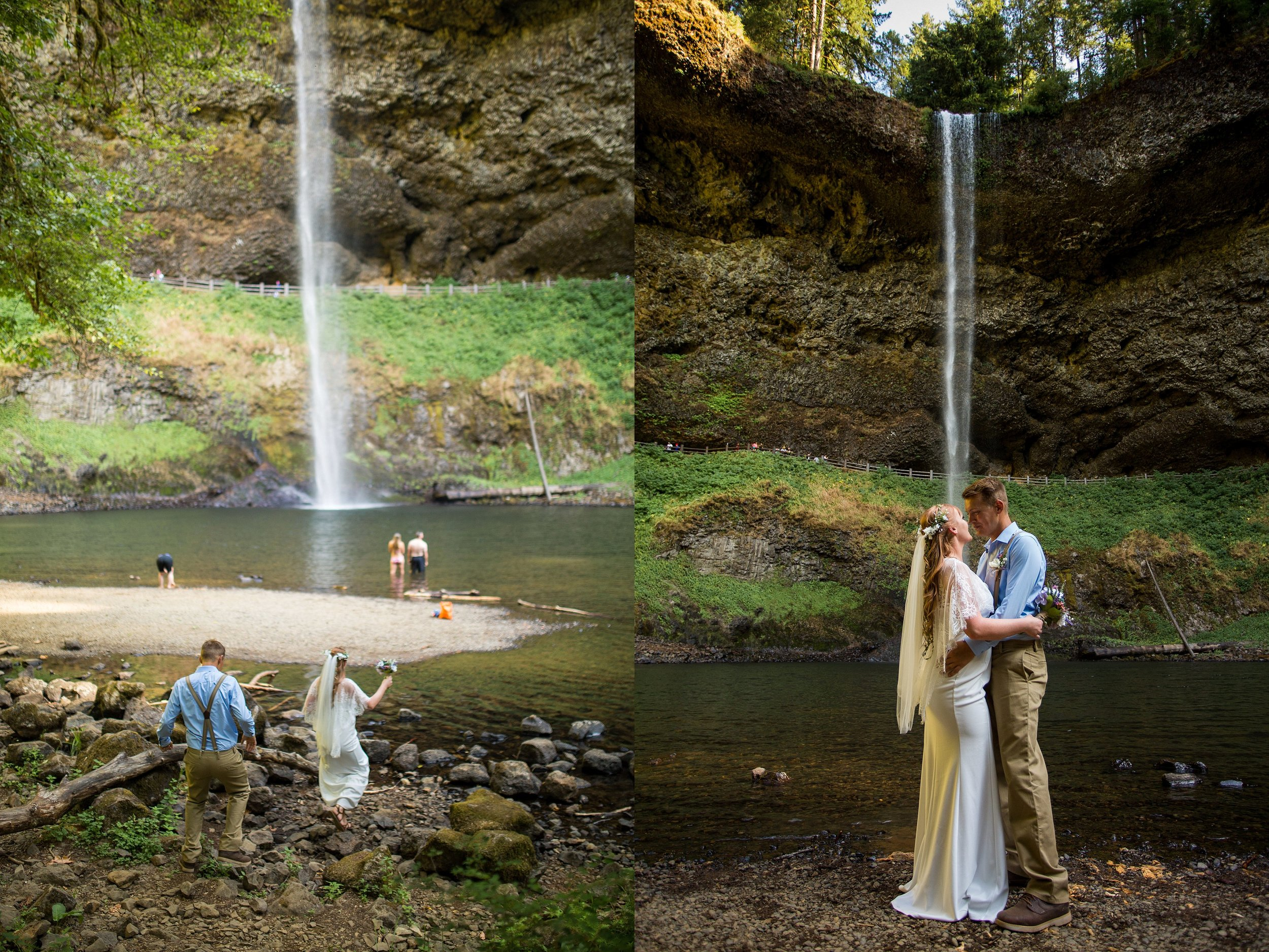 Silver Falls Elopement Photos