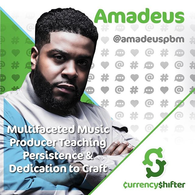 You know what today is🤗 #currencyshiftday🎉🍾🙌🏾 @amadeuspbm is episode 7, Season 2. Learn how to believe in yourself by trusting your vision and purpose. It's a great story of persistence and not letting people hold you back from opportunity. #socialcurrency Link in bio😬. . . . 🍾Season 2 Sponsor @puntospace 🍾 🍾Theme Music by @terinthompsonofficial 🍾 🍾Host @corporate2casual 🍾