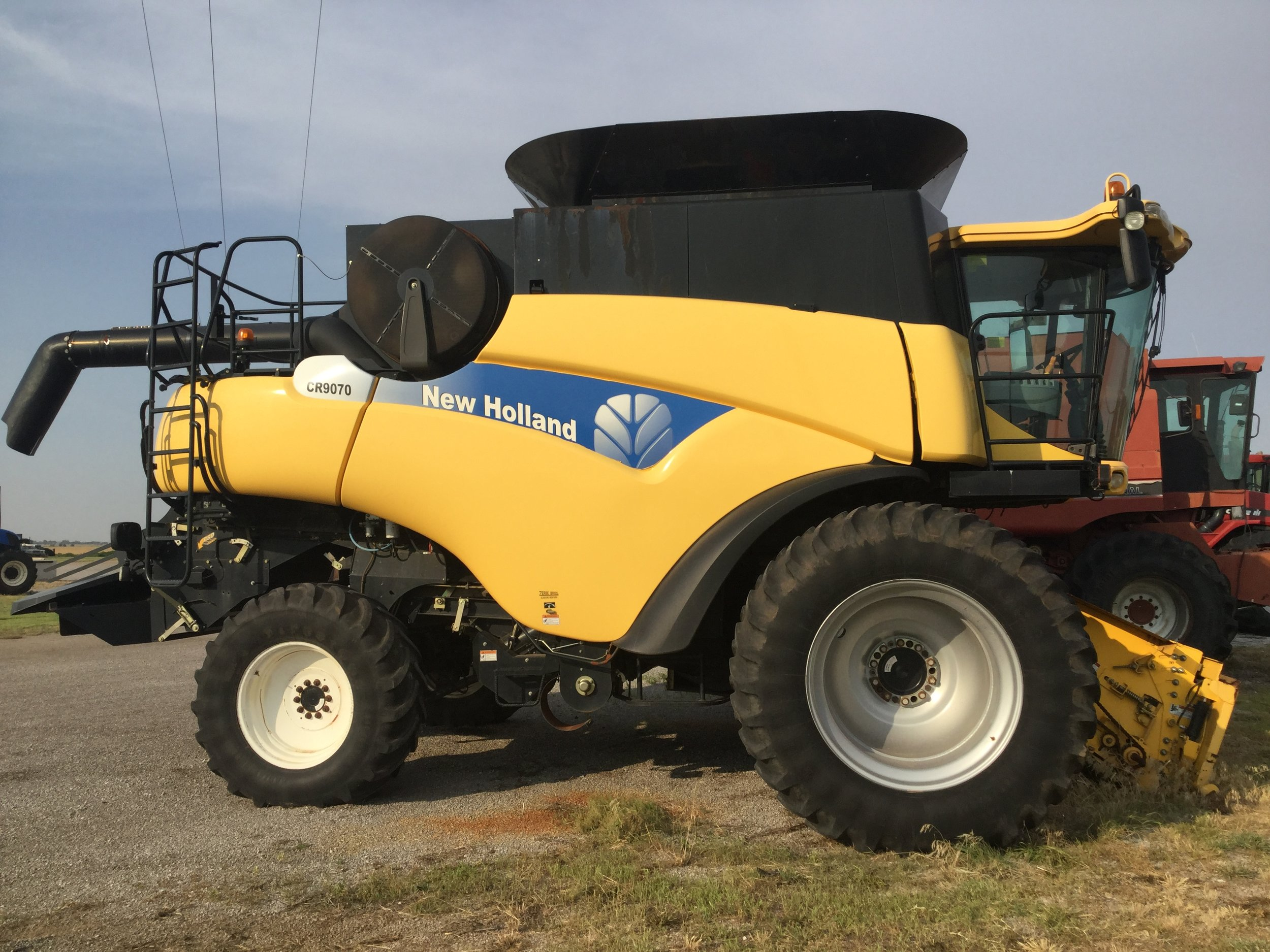 New Holland 9070 combine (1367 sep hrs.) - $90,000