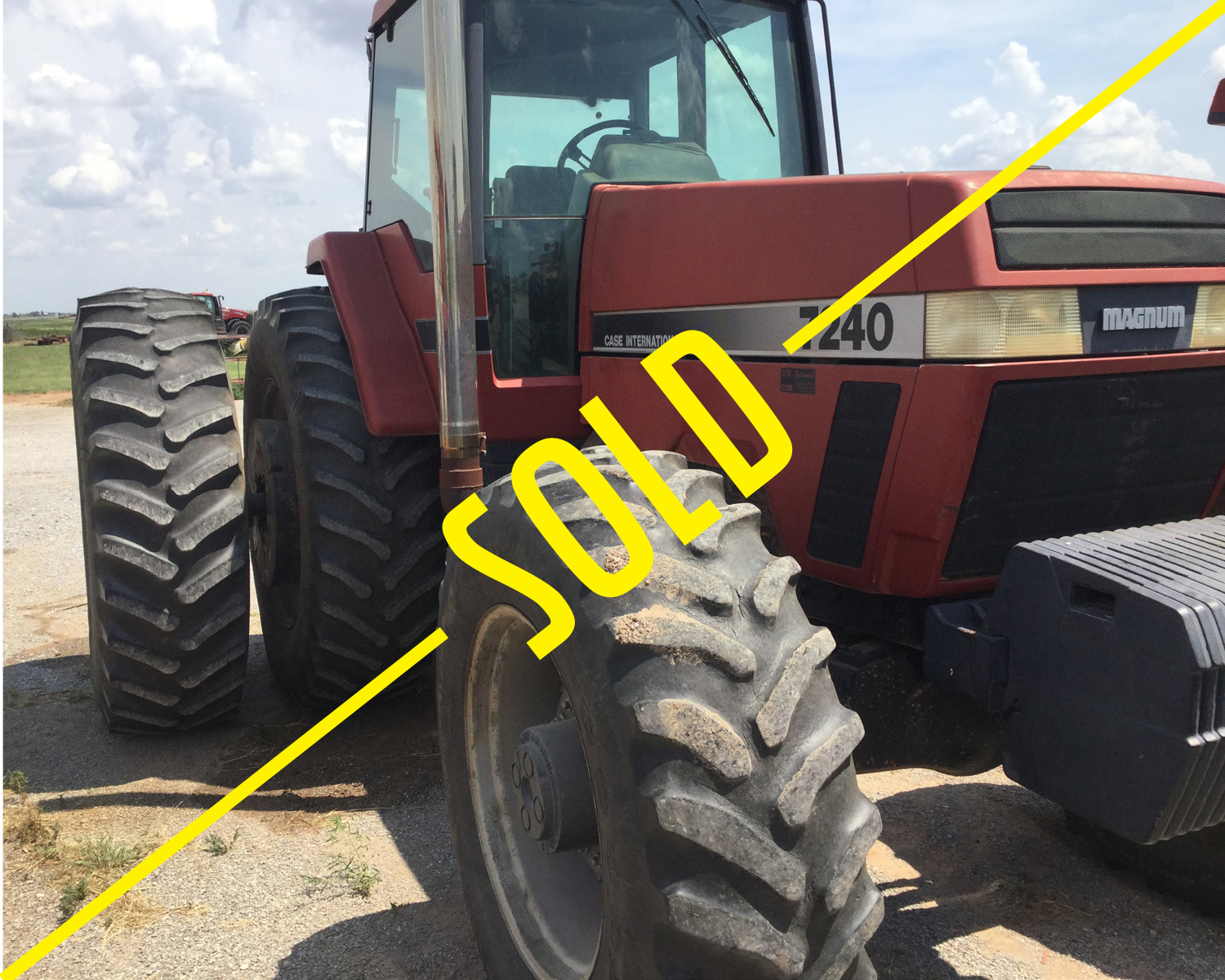 Case IH model 7240 (5,762 hrs) One owner sold new in 1994. Will have new tires on the inside. - Sold for $42,000