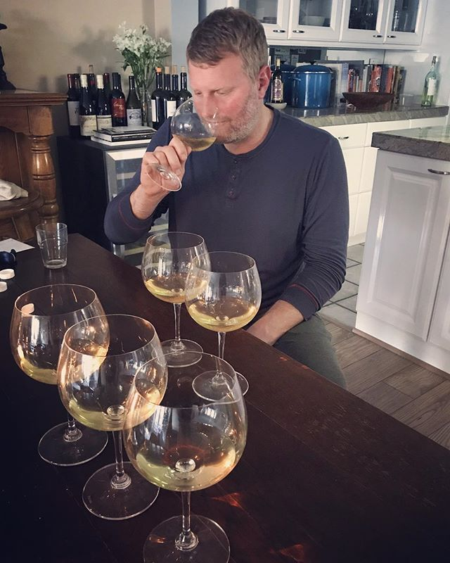 Final blending session for our 2016 Sonoma Coast and Platt Vineyard Chardonnay...bottling in 2 weeks! . #napavalley  #sonomacounty #chardonnay