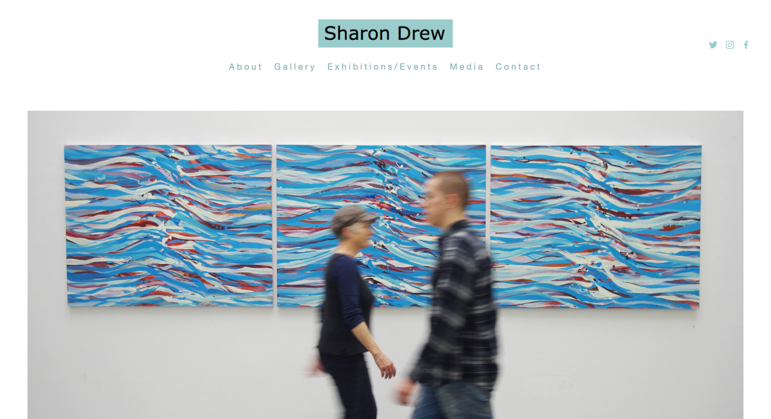 Artists - Sharon Drew is an abstract painter who, from her studio in Walthamstow, creates vibrant strong work - something we believe is complemented by the sharp clarity of this website.She is incredibly successful at showing her work, this site allows her to easily update her sold work and promote her next exhibition.