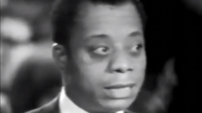 In conversation with James Baldwin, image still courtesy of Spencer Garland.