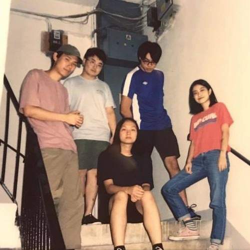 Stair hangout sessions with Thud; press photo courtesy of the band.