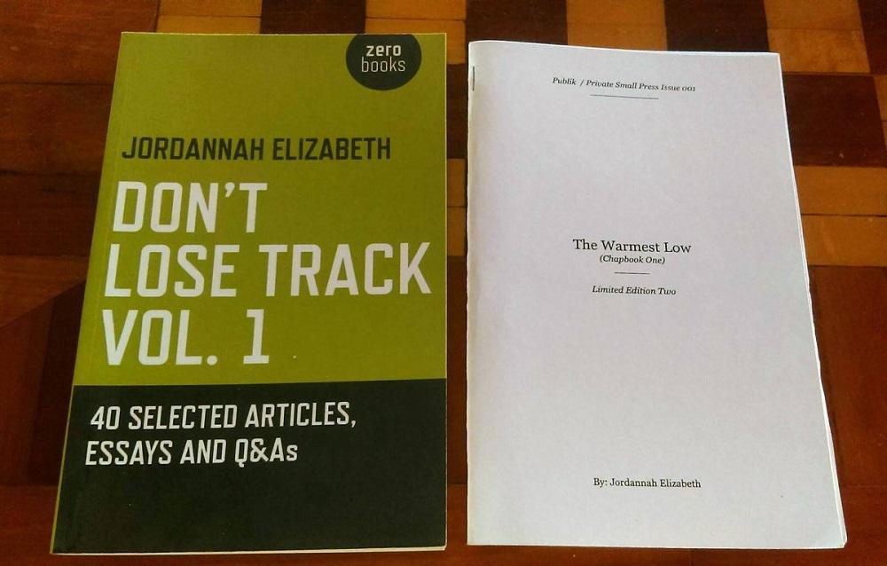 Jordannah Elizabeth's  Don't Lose Track Vol. 1  and  The Warmest Low ; courtesy of Publik / Private.