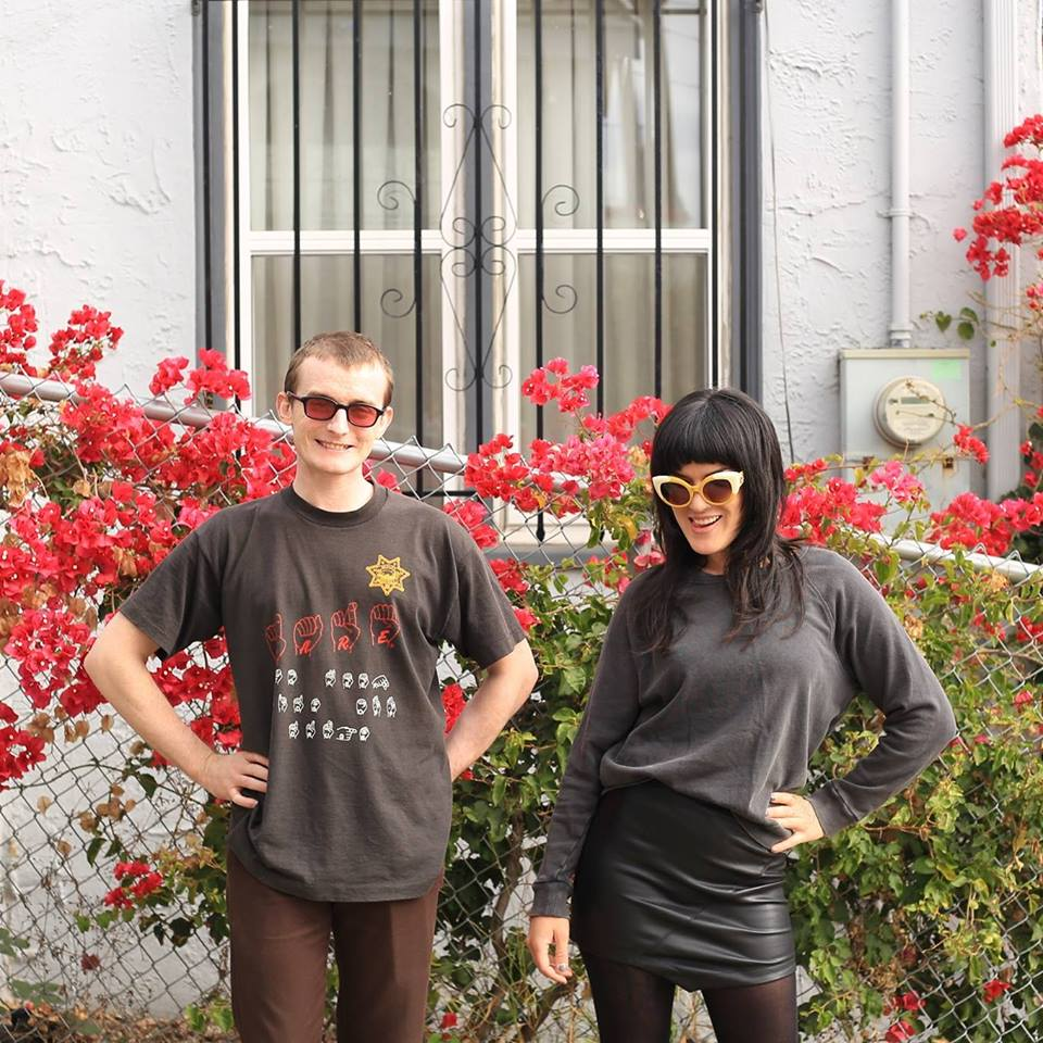 From left; Hadley and Mia of Oakland's upstarts Shutups; press photo courtesy of the band.