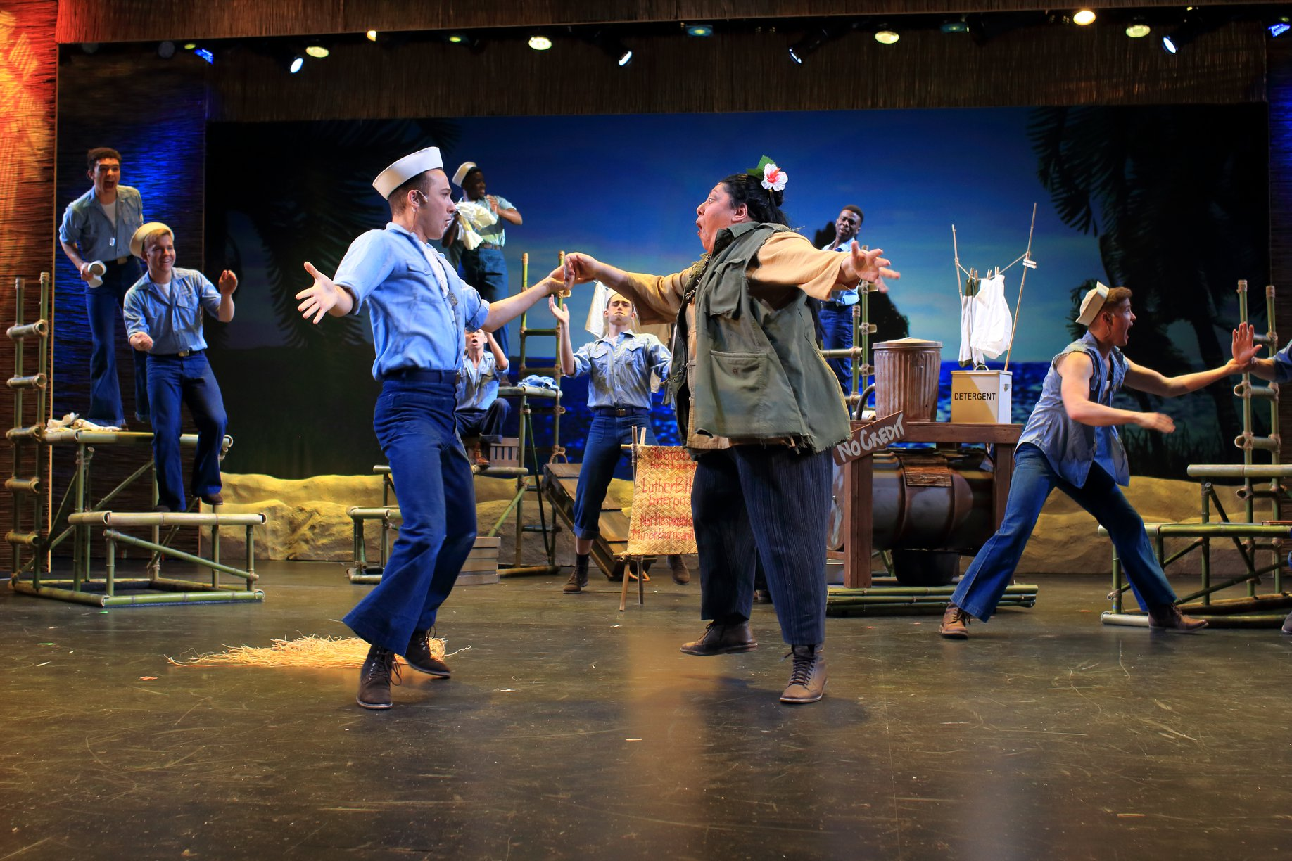 Dancing with Cody Marshall in  South Pacific  (Flat Rock Playhouse 2019)