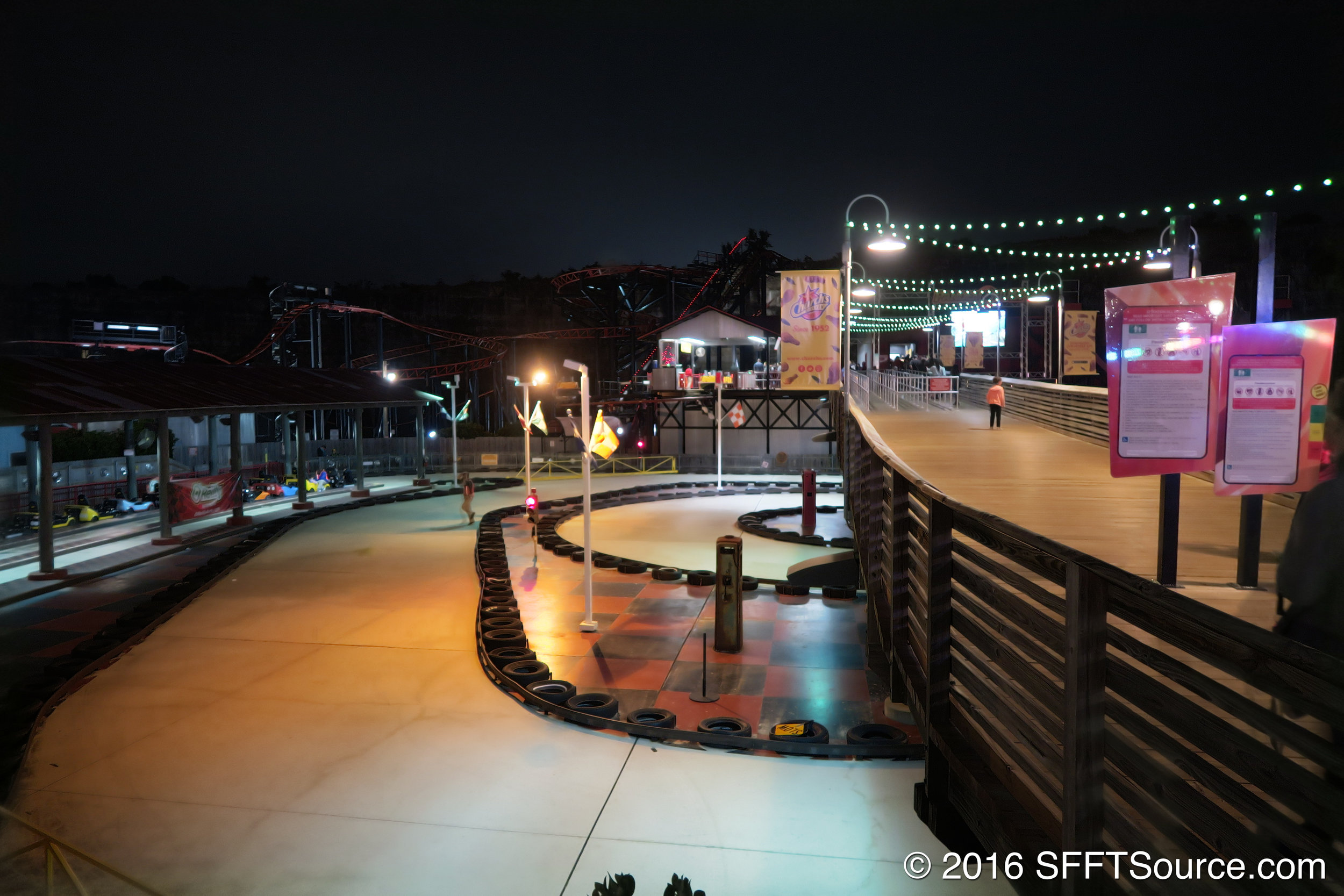 A night view of Thunder Beach Speedway.