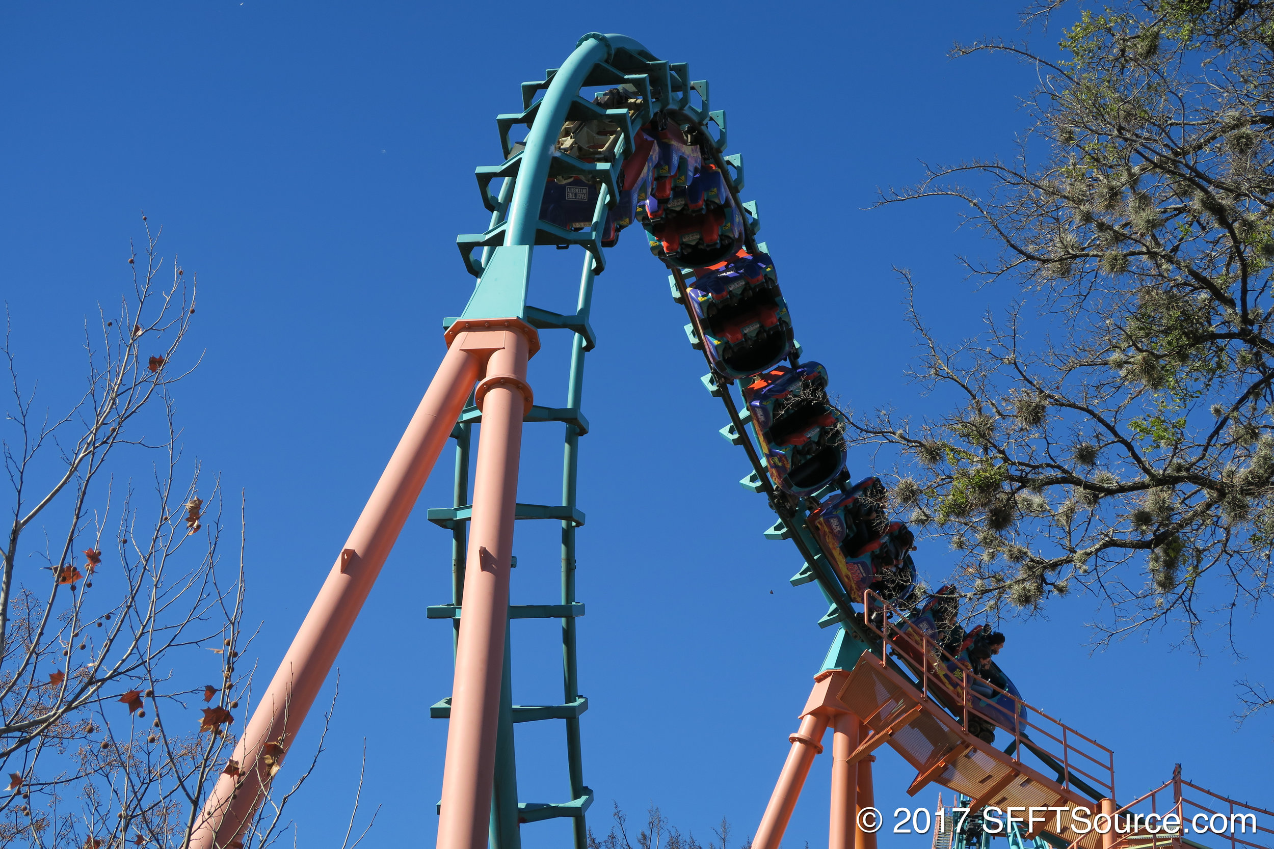 Another shot at the ride's cobra roll element.