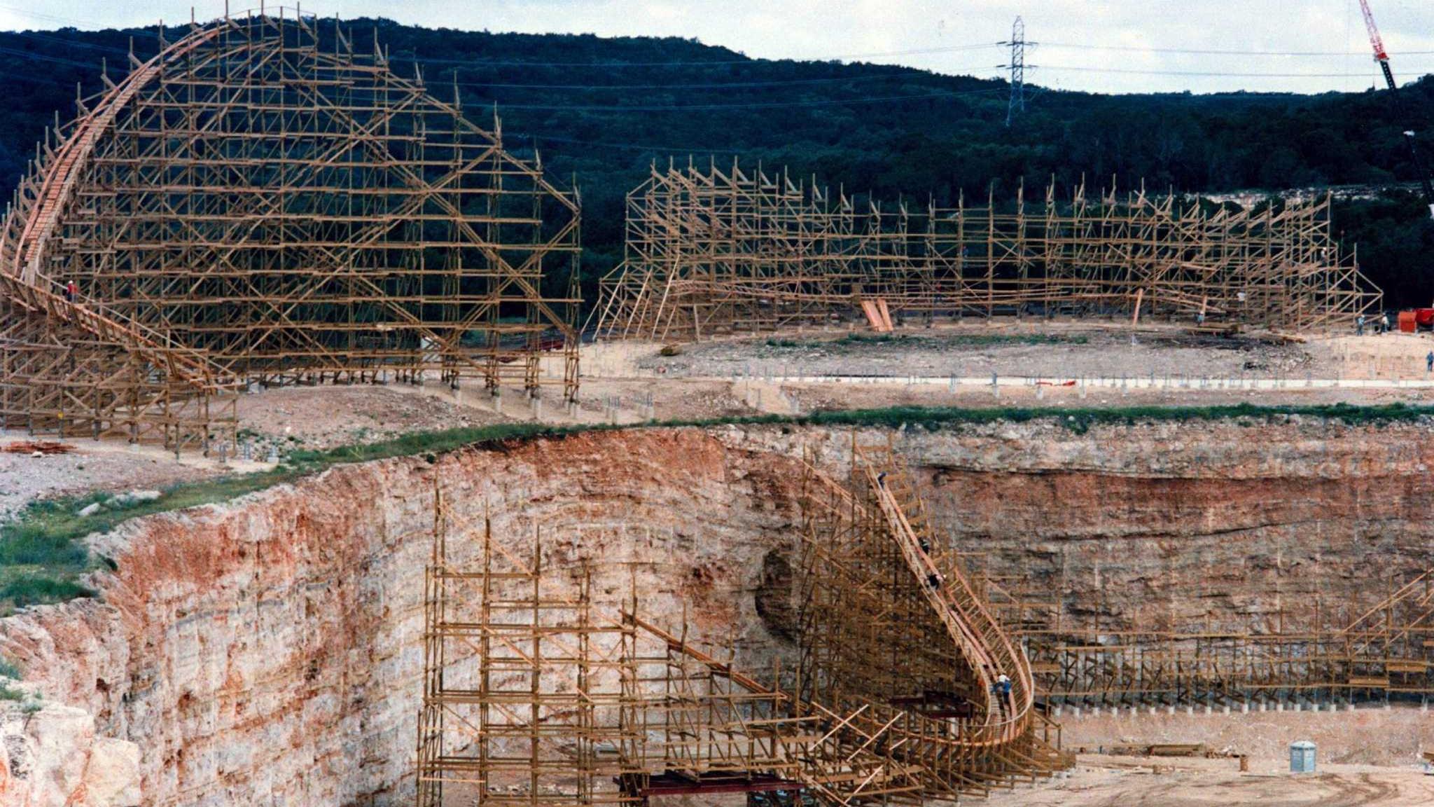 Construction on the original Rattler pre-1992 season.