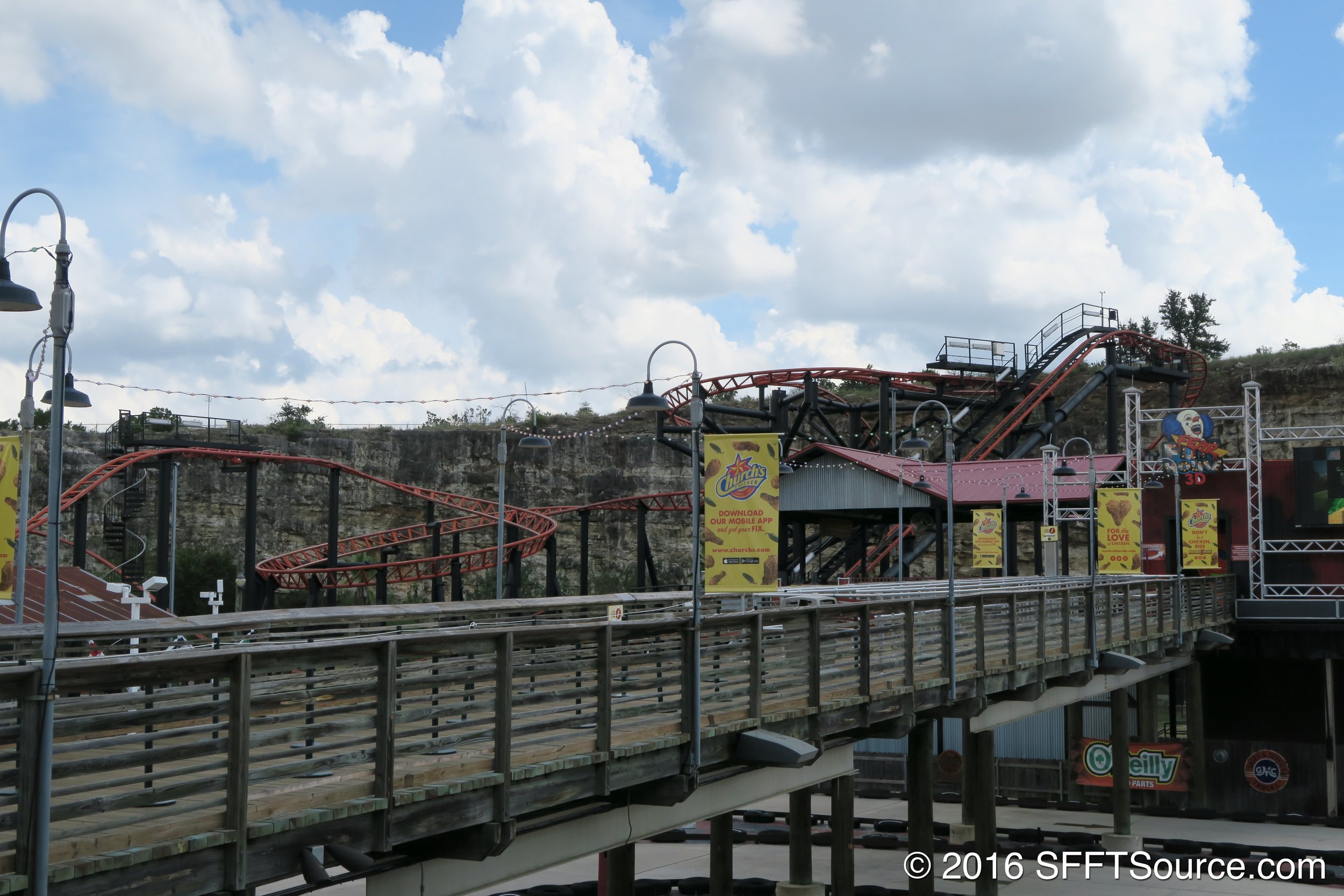 The queue area of the ride.