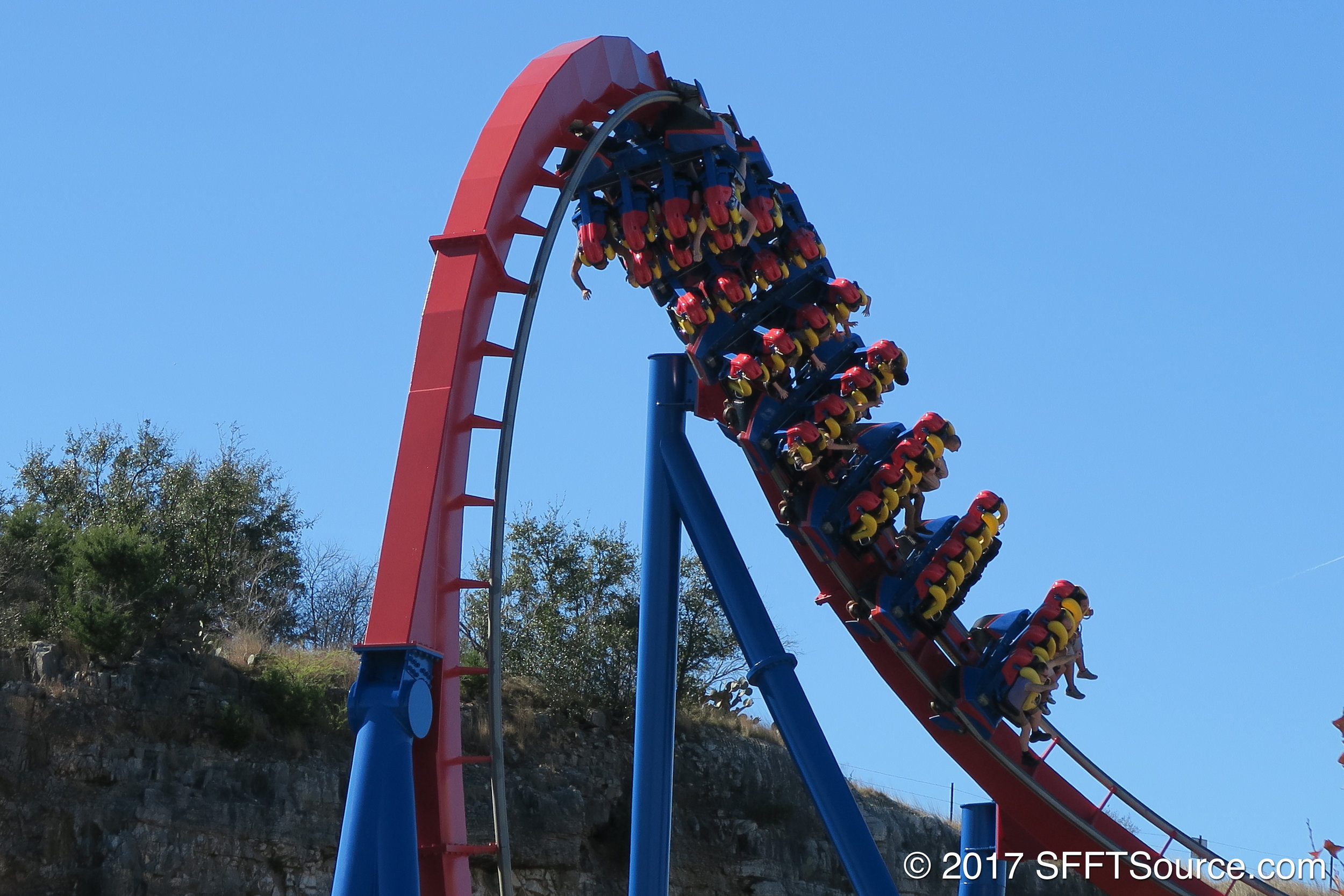 Guests enjoying one of multiple inversions.