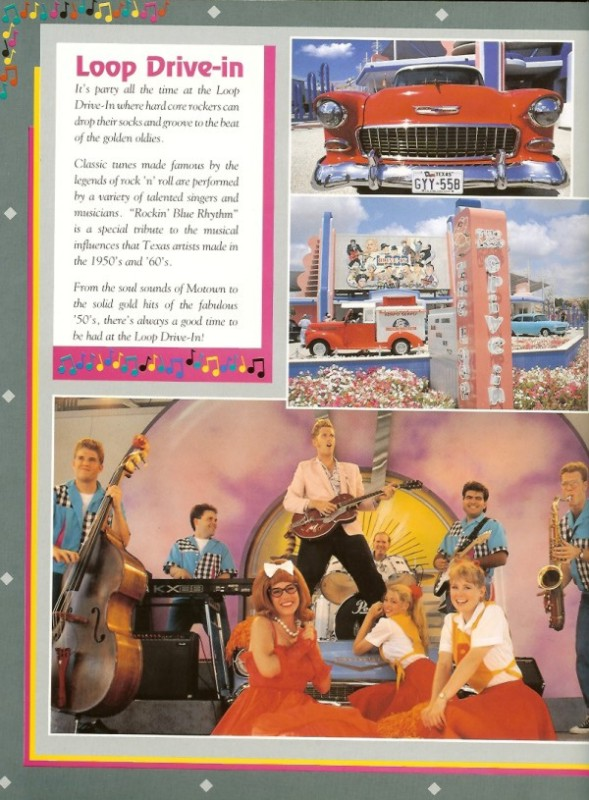 A past brochure showing off a production inside the Loop Drive-In venue. Credit: Shane's Amusement Attic