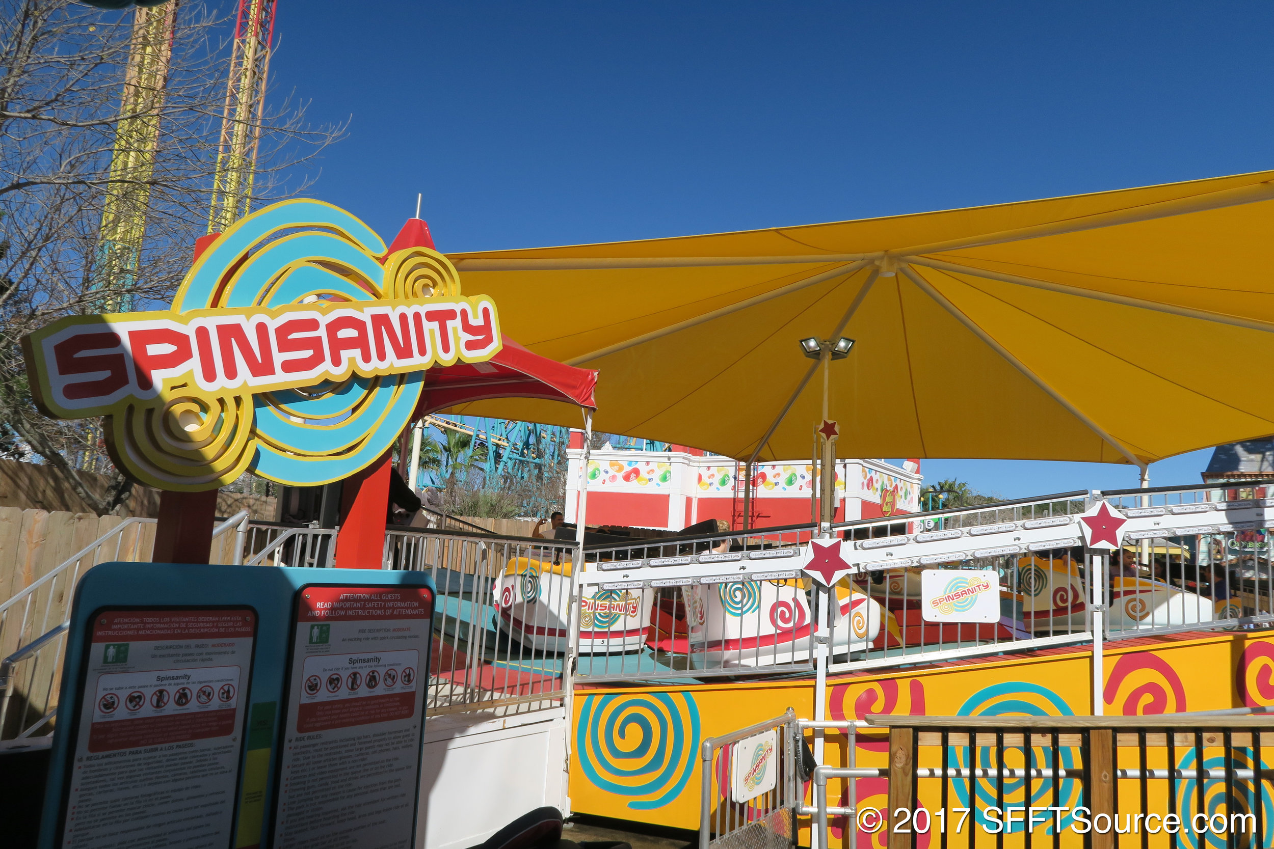 The main entrance/sign to Spinsanity.