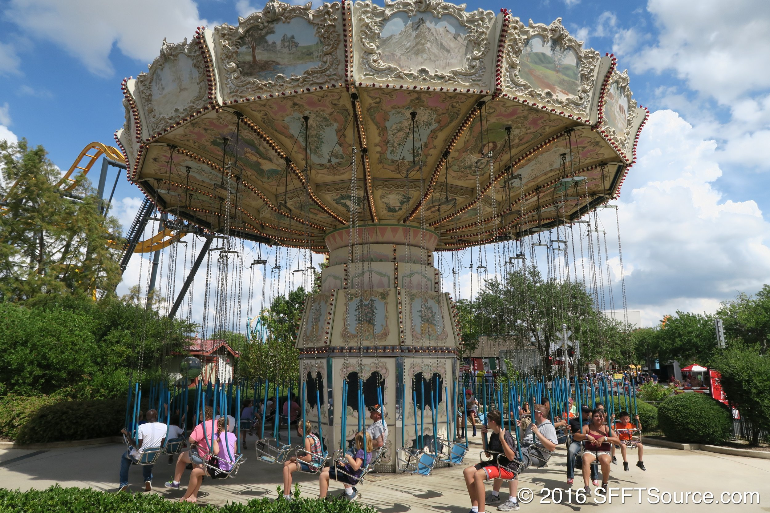 Whirligig is an original opening year attraction at Fiesta Texas.