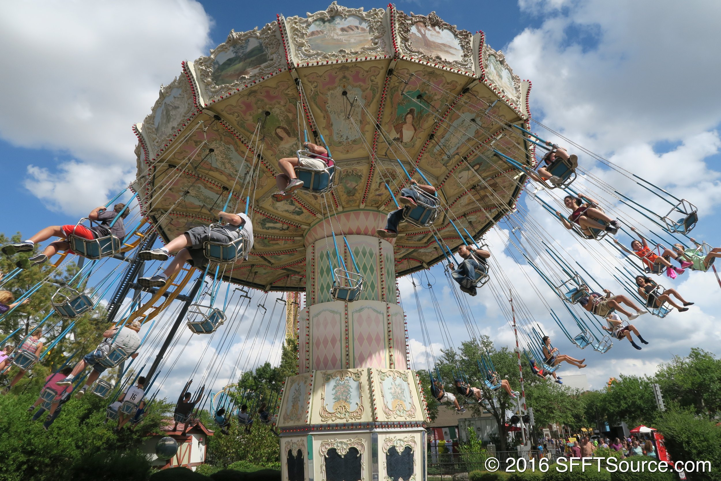 Whirligig is a spinning swing ride.
