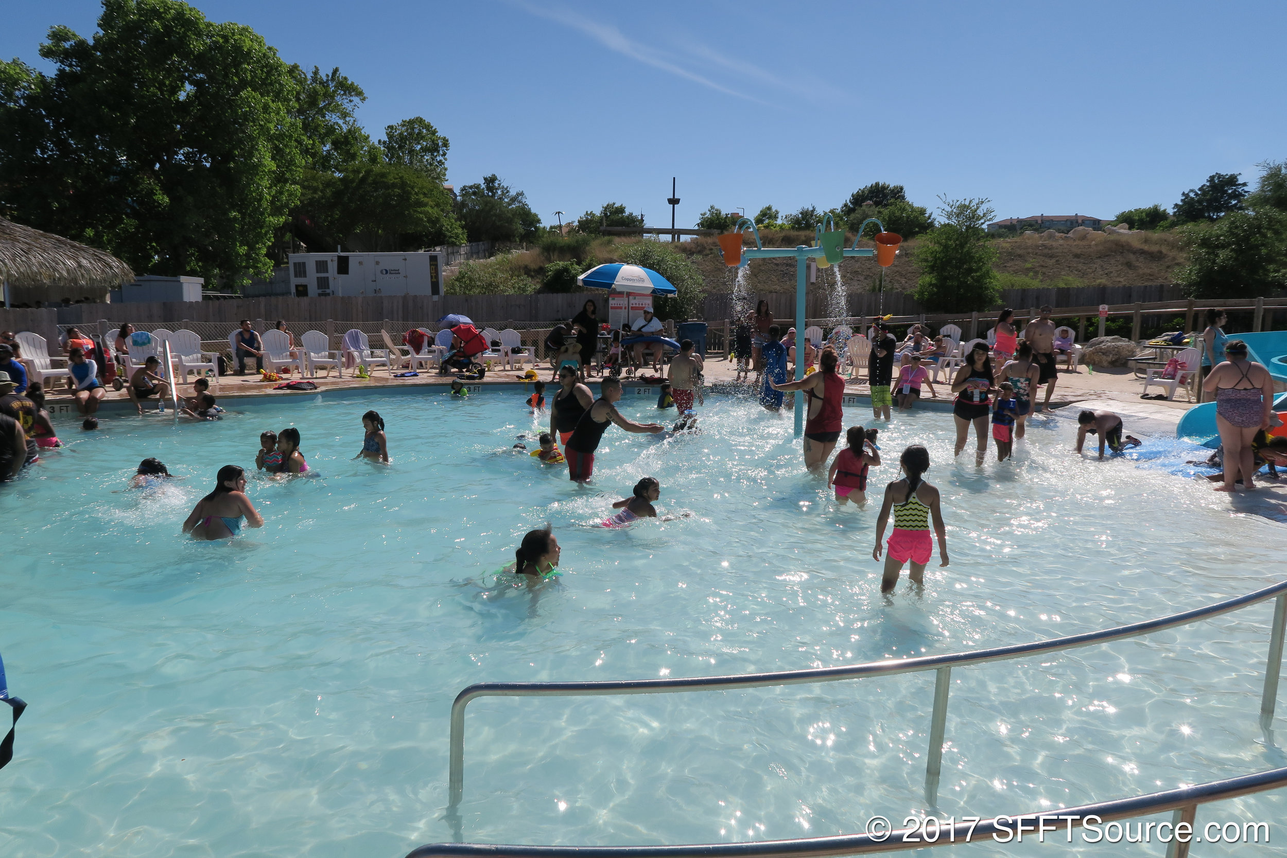 Paradise cove is a relaxation/play area pool.