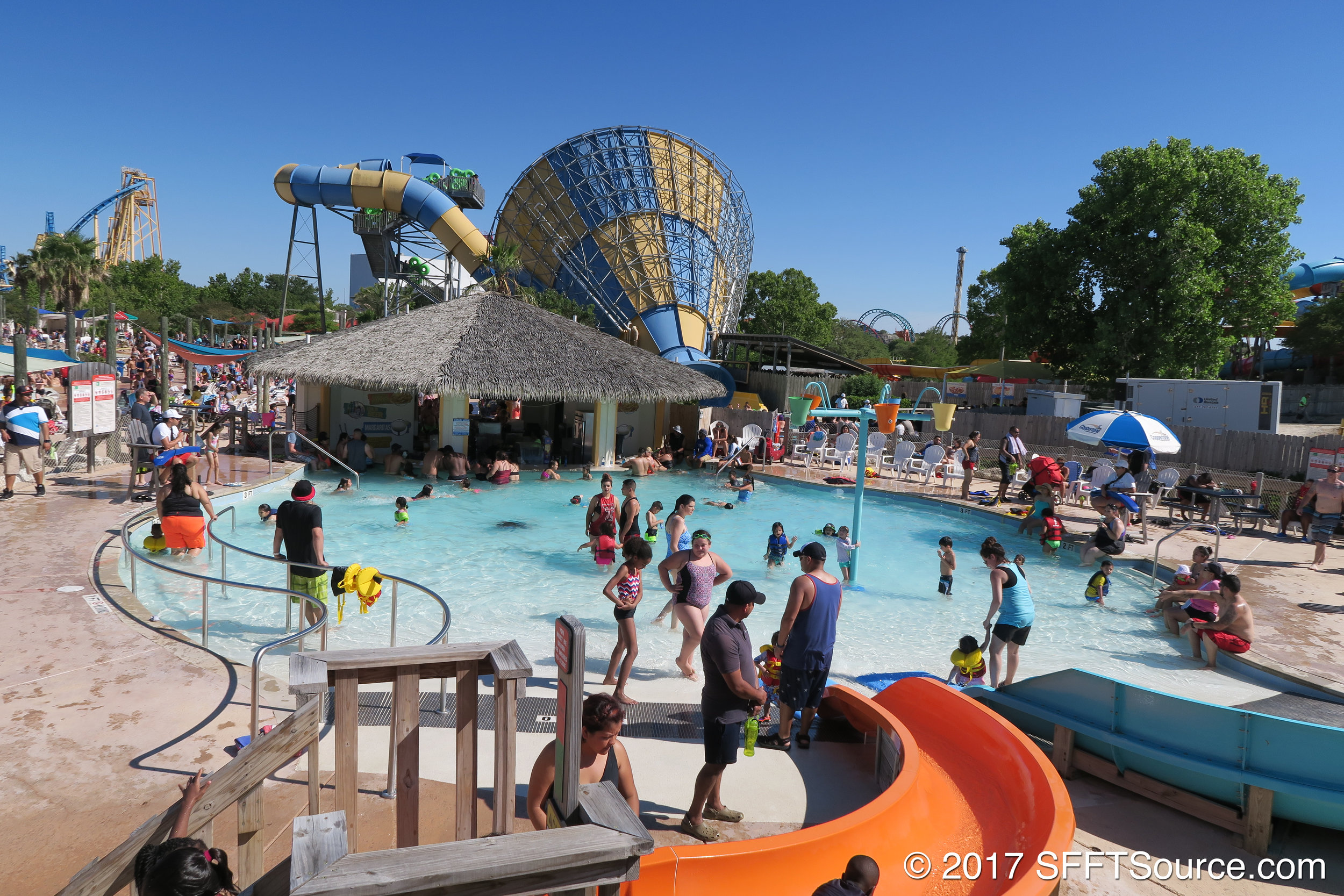 Paradise Cove is also attached to Dom Julio's and Bamboo Chutes.